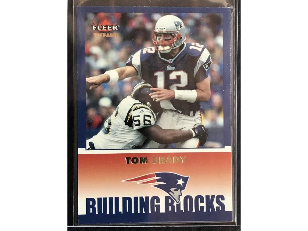 2002 Fleer Tiffany Tom Brady Numbered To 225