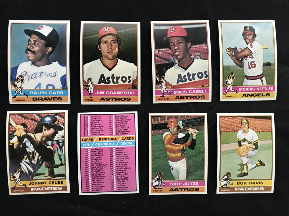 350 Crease Free 1976 Topps Baseball Cards