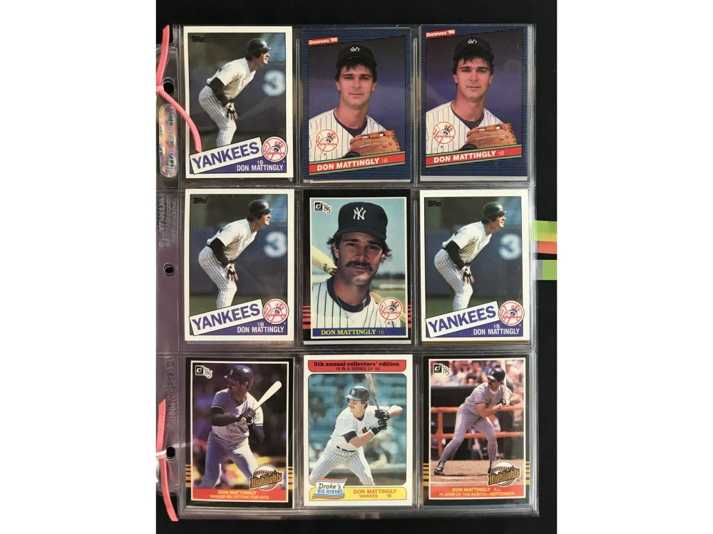 36 Don Mattingly Card Collection