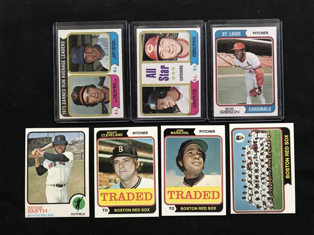 350 1973-74 Topps Crease Free Baseball Cards