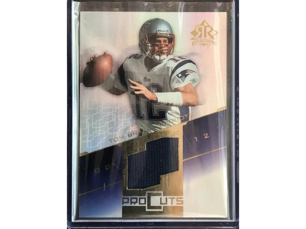 2004 Ud Reflections Tom Brady Pro Cuts Jersey