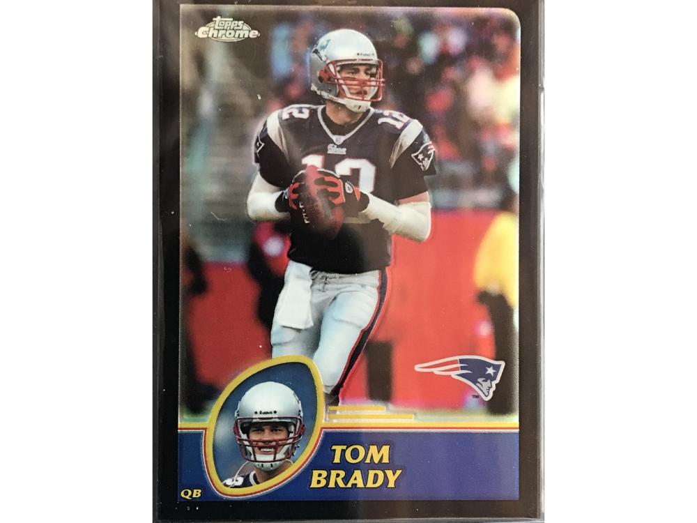 2003 Topps Chrome Tom Brady Black Refractor