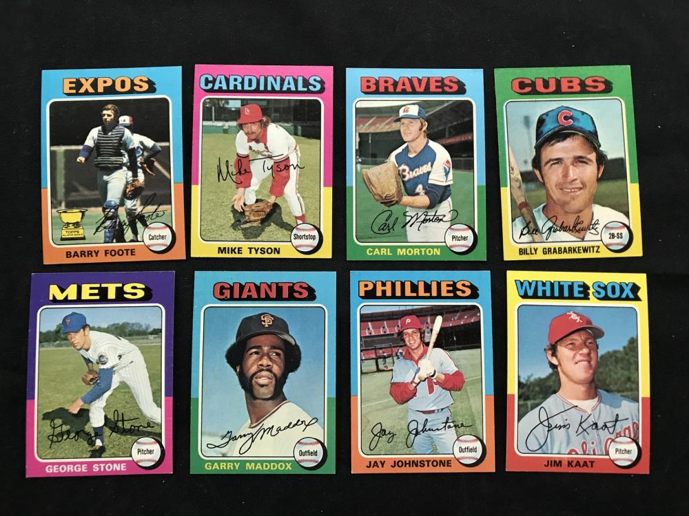 Over 550 Crease Free 1975 Topps Baseball Cards