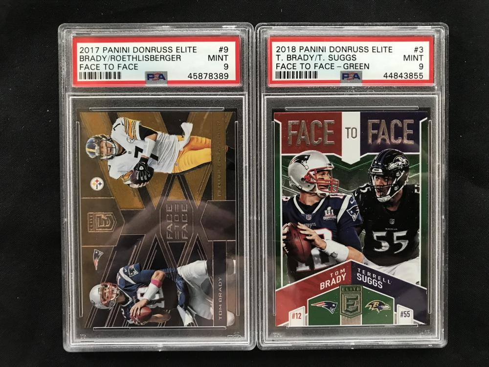 Two Tom Brady Graded Cards Psa 9