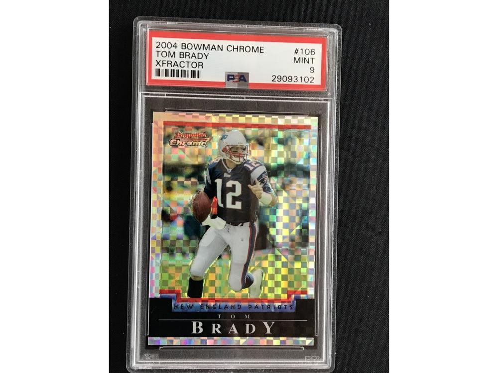 2004 Bowman Chrome Tom Brady Xfractor Psa 9