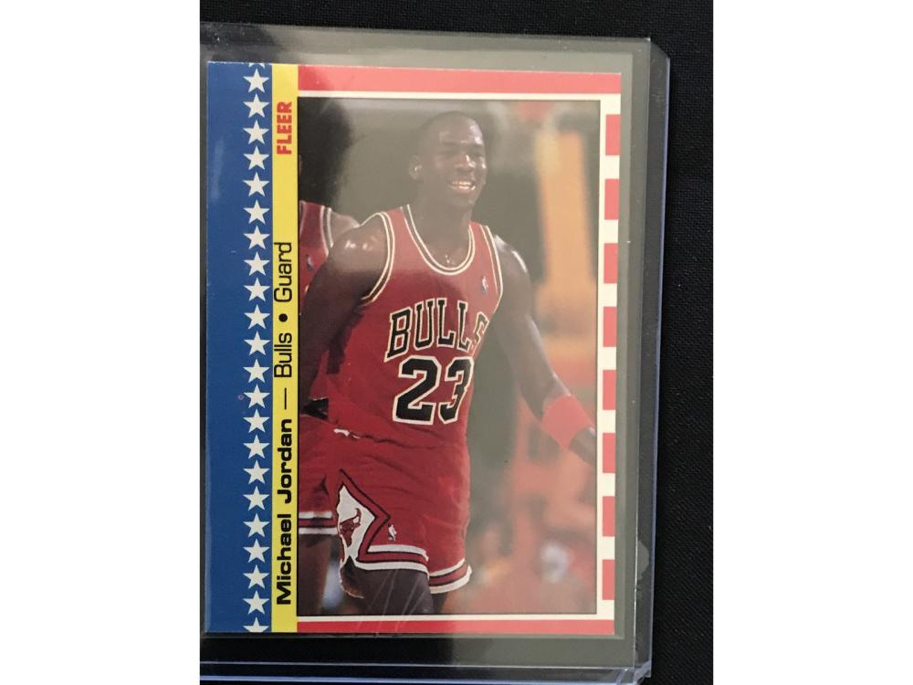 1987 Fleer Michael Jordan Sticker Near Mint/mint