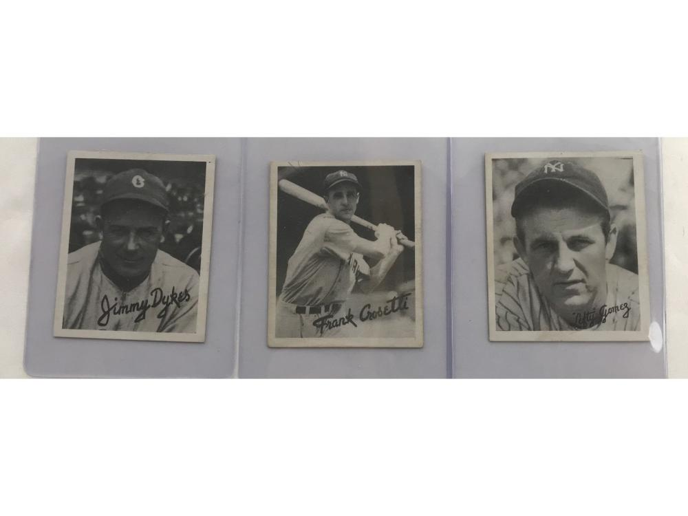 Three 1936 Goudey Cards Gomez, Dykes, Crossetti