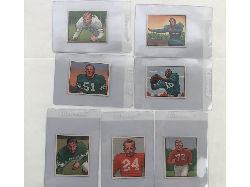18 High Grade 1950 Bowman Football Cards