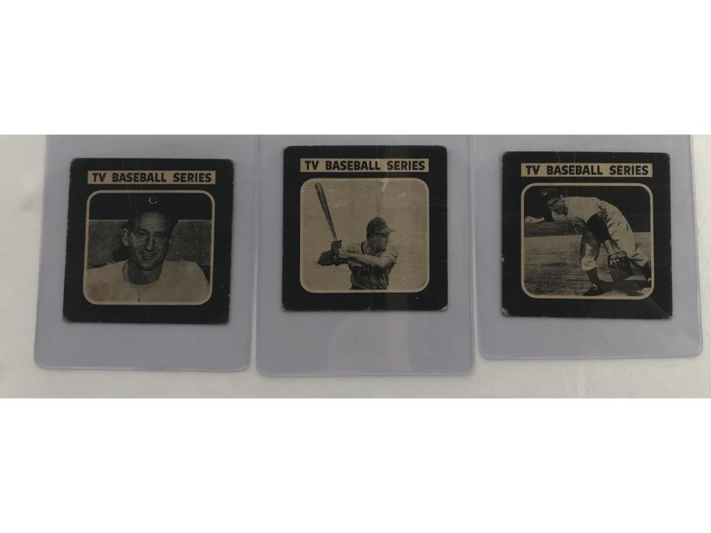 Three 1950 Drakes Cookies Cards