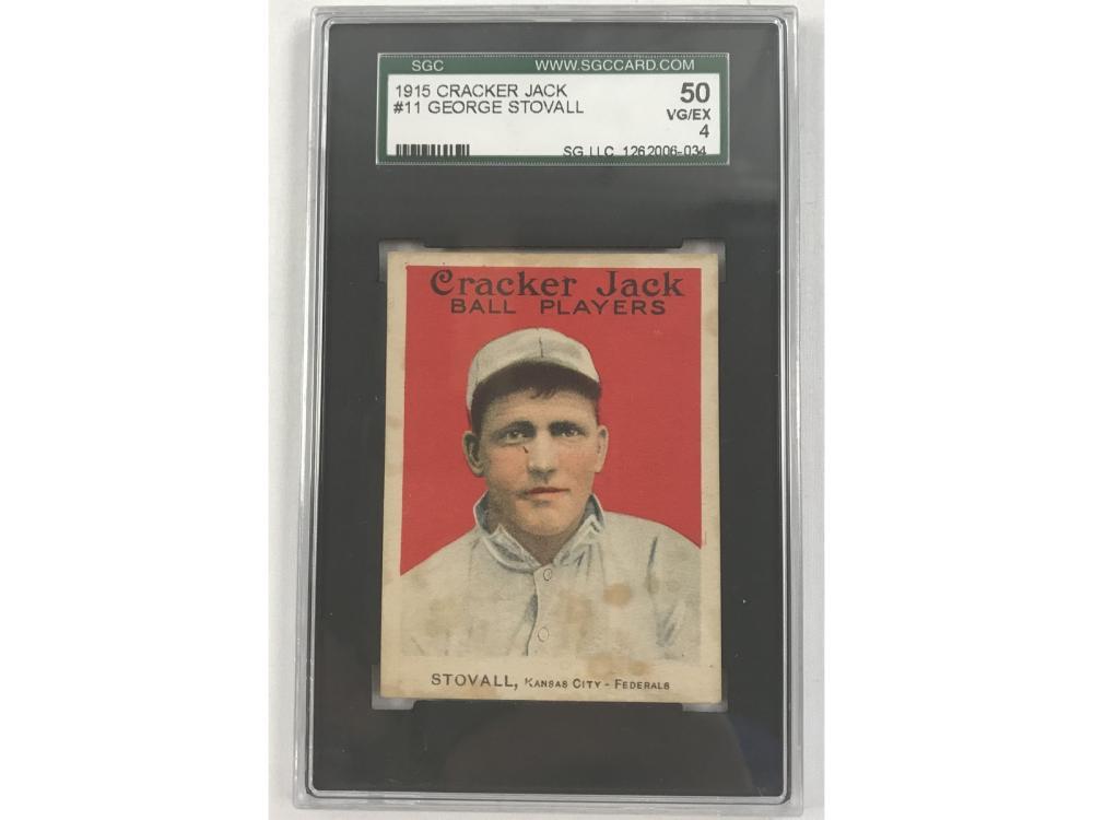 1915 Cracker Jack George Stovall Sgc 4