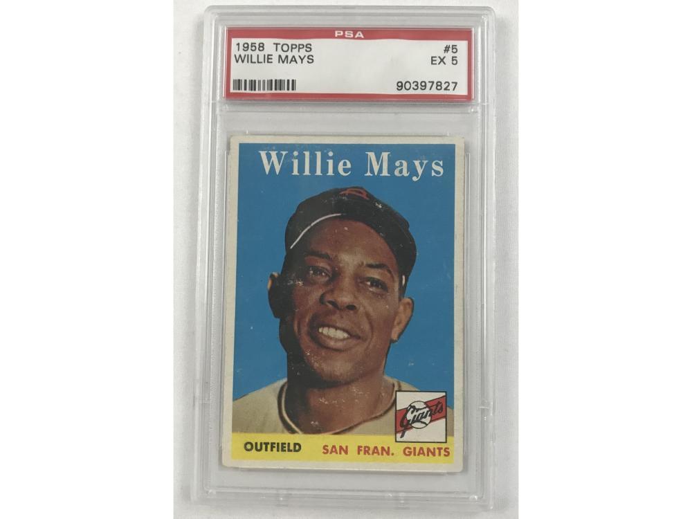 1958 Topps Willie Mays Psa 5