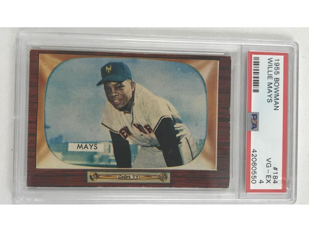 1955 Bowman Willie Mays Psa 4