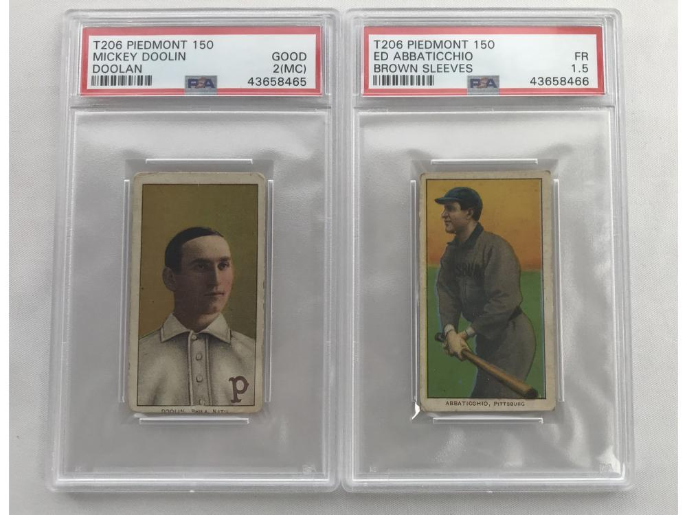 Pair Of Graded T206 Cards
