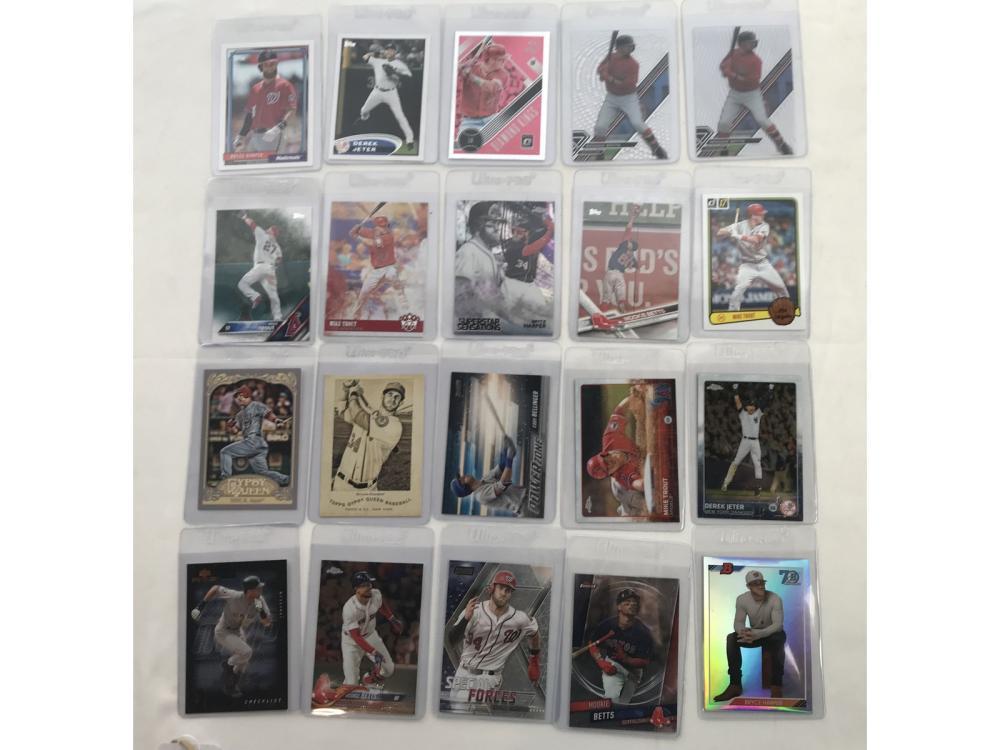 24 Modern Baseball Stars Jeter/harper/trout/betts