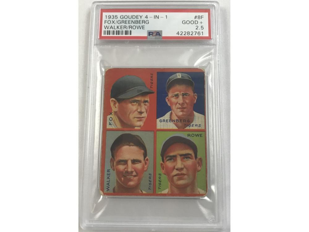 1935 Goudey 4 In 1 Hank Greenberg Psa 2.5