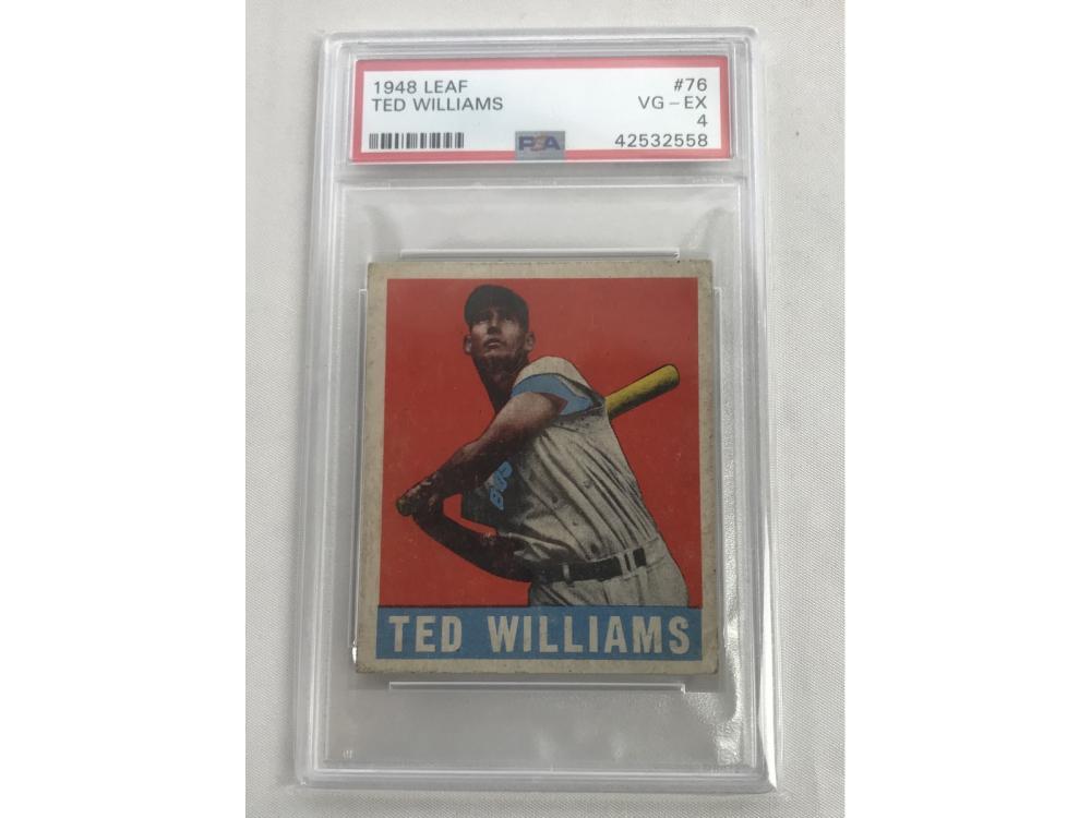1948 Leaf  Ted Williams Psa 4