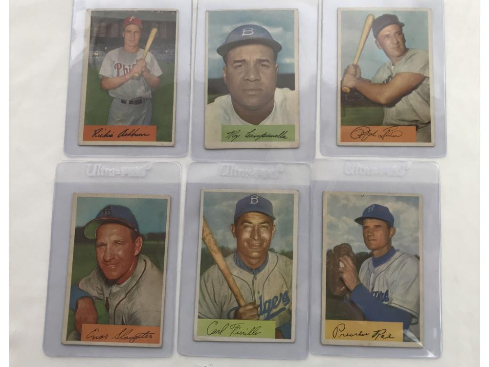 6 Crease Free 1954 Bowman Stars