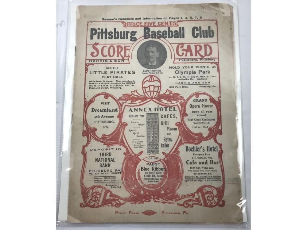 1906 Pirates Vs. A's Program Honas Wagner