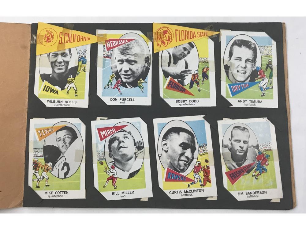 1961 Nu Card Football Album With 34 Cards