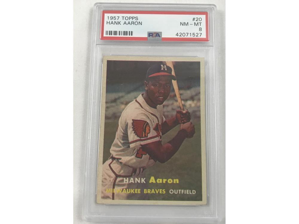1957 Topps Hank Aaron Psa 8