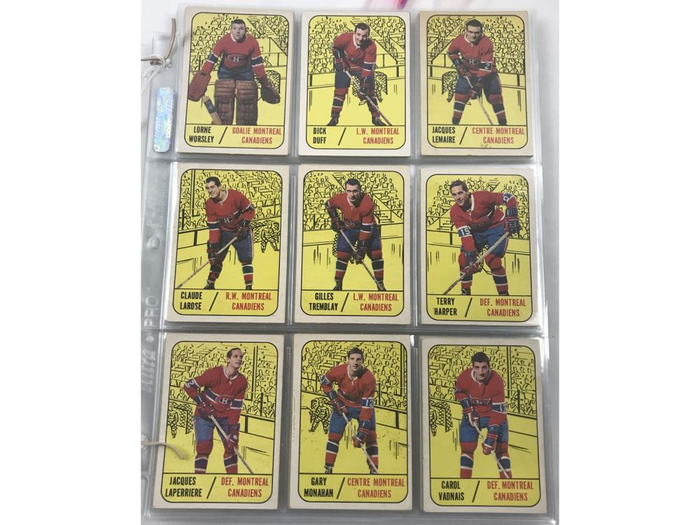 1967-68 Topps Hockey Complete Set
