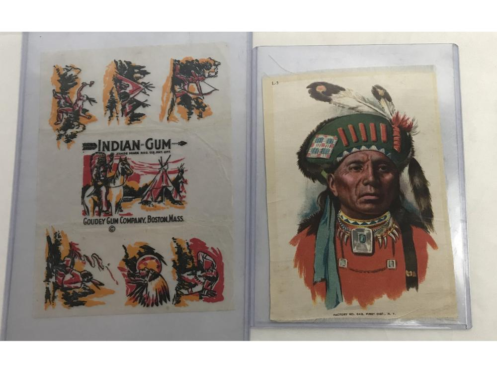 Large Indian Silk And Goudey Gum Wrapper