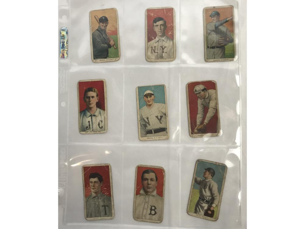 9 T206 Cards  Good-vg