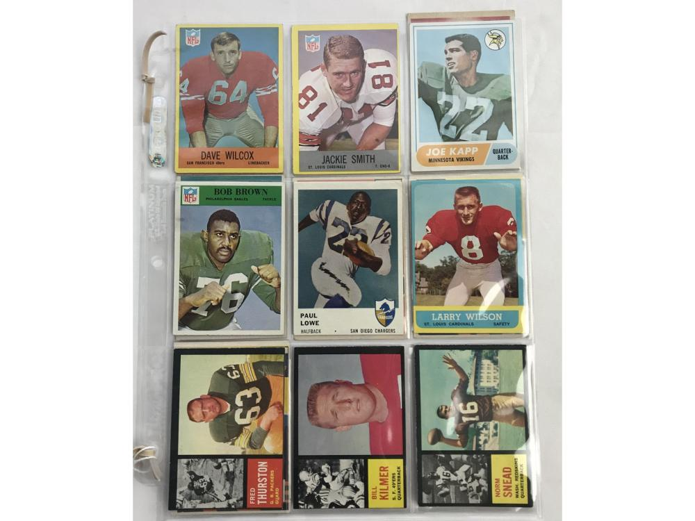 16 1950's And 60's Football Rookie Cards