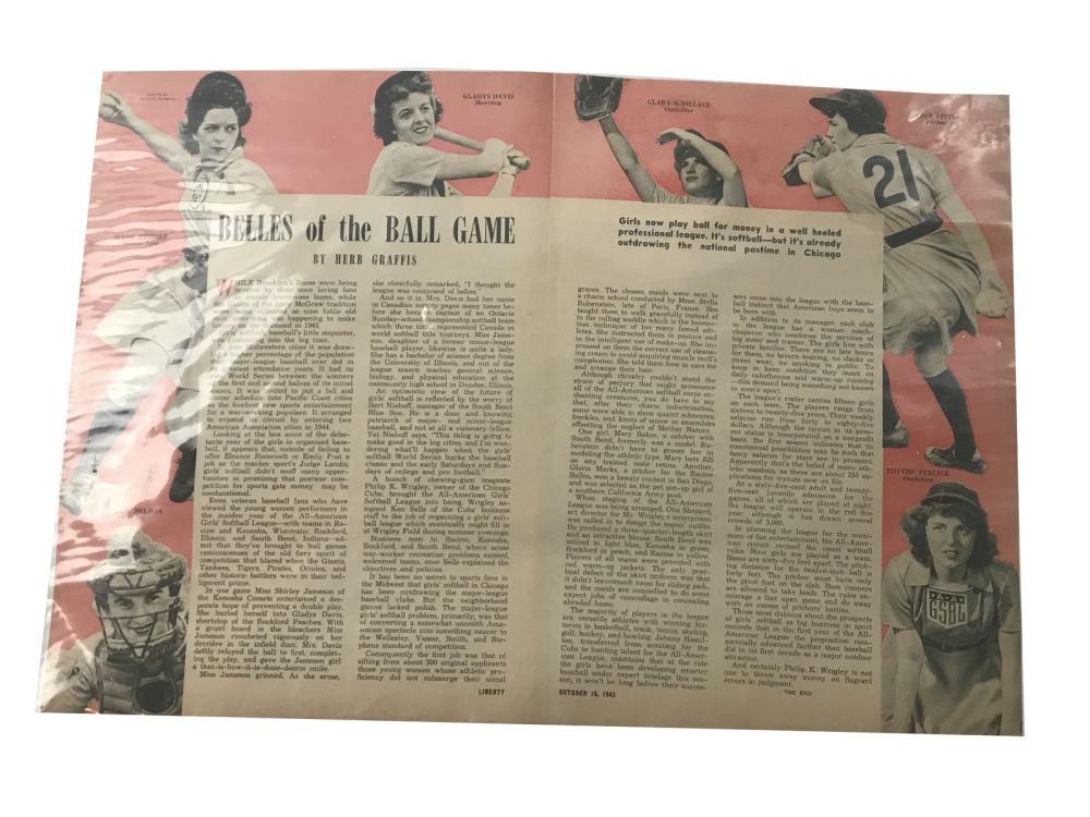 1943 Belles Of The Ballgame Display