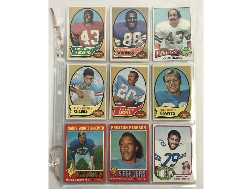 20 1970's Football Rookie Cards