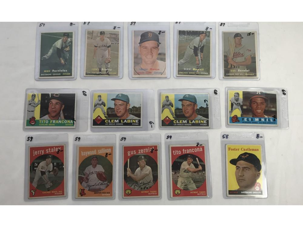 100 1957-61 Topps Baseball Cards