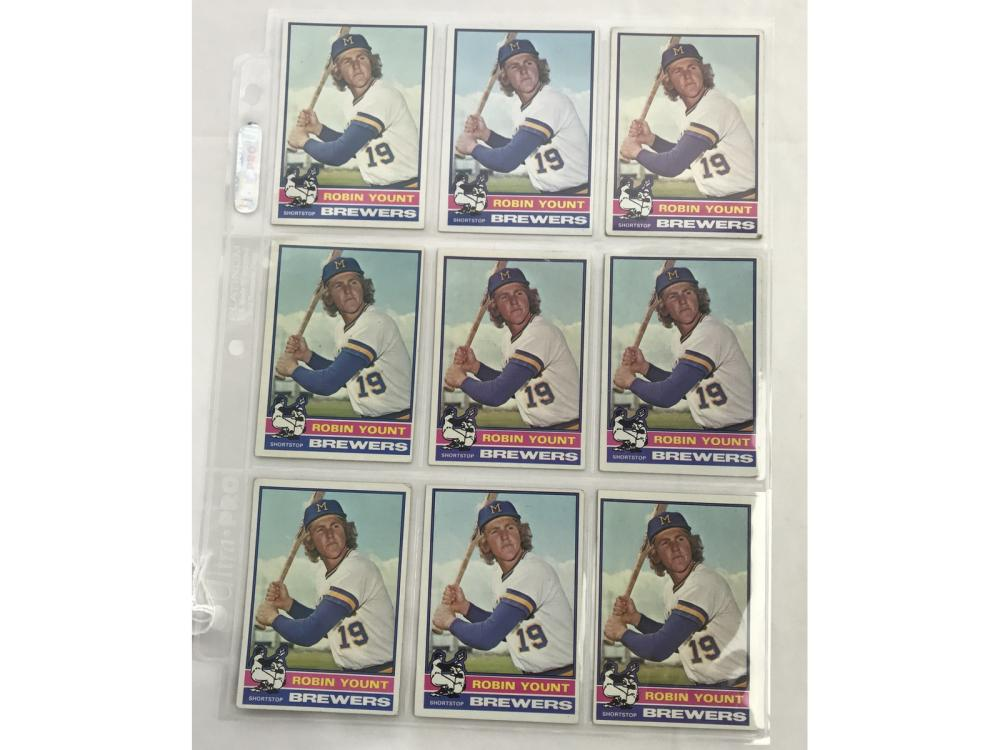 9 1976 Topps Robin Yount Cards