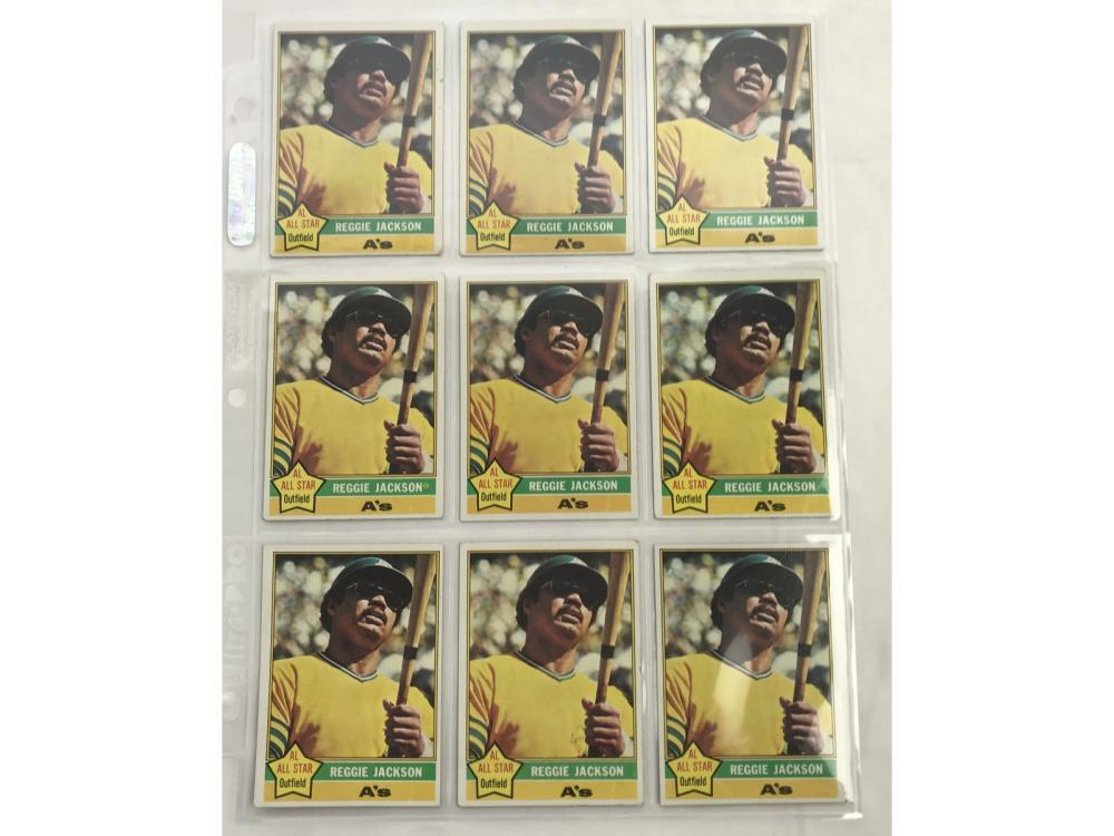 9 1976 Topps Reggie Jackson Cards