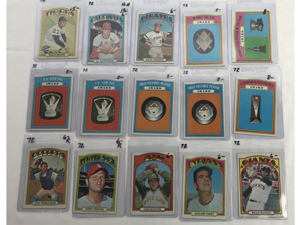 64 1972 Topps Baseball Cards