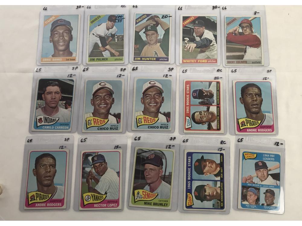 121 1965-1969 Topps Baseball Cards
