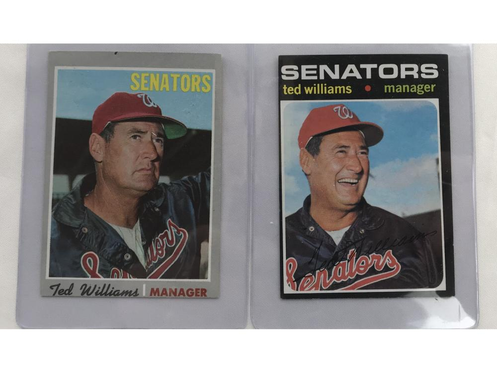 Pair Of Ted Williams Cards 1970/1971
