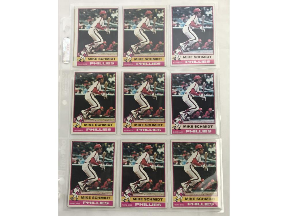 9 1976 Topps Mike Schmidt Cards