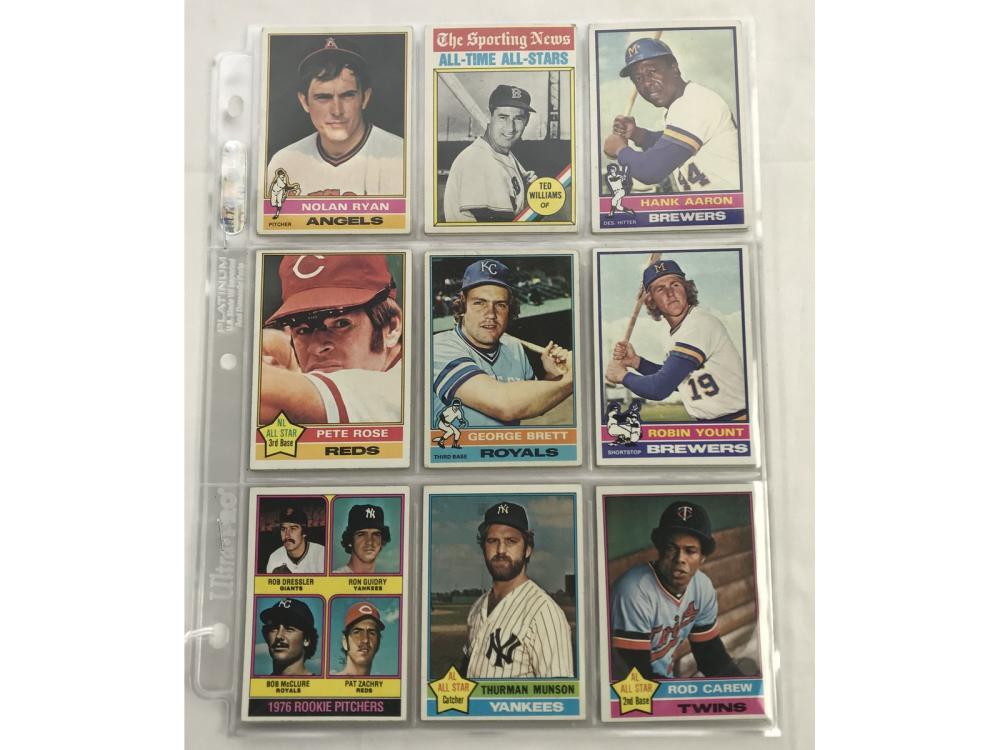27 1976 Topps Baseball Cards Hof/rc
