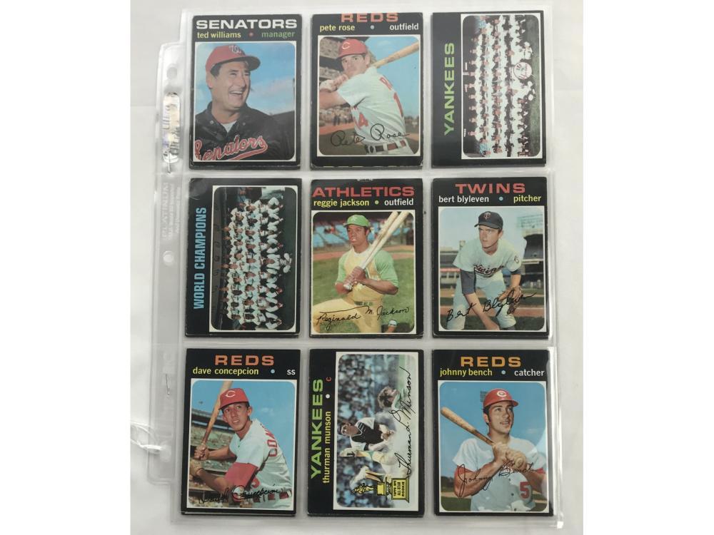 18 1971 Topps Baseball Cards