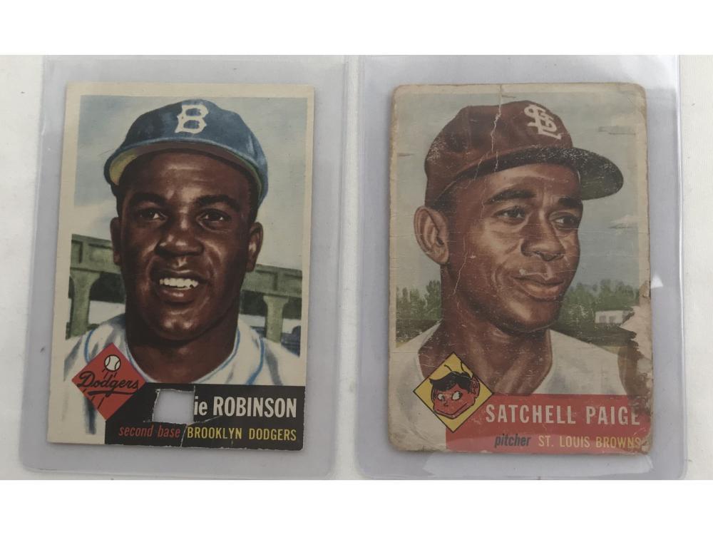 1953 Topps Satchel Paige/jackie Robinson
