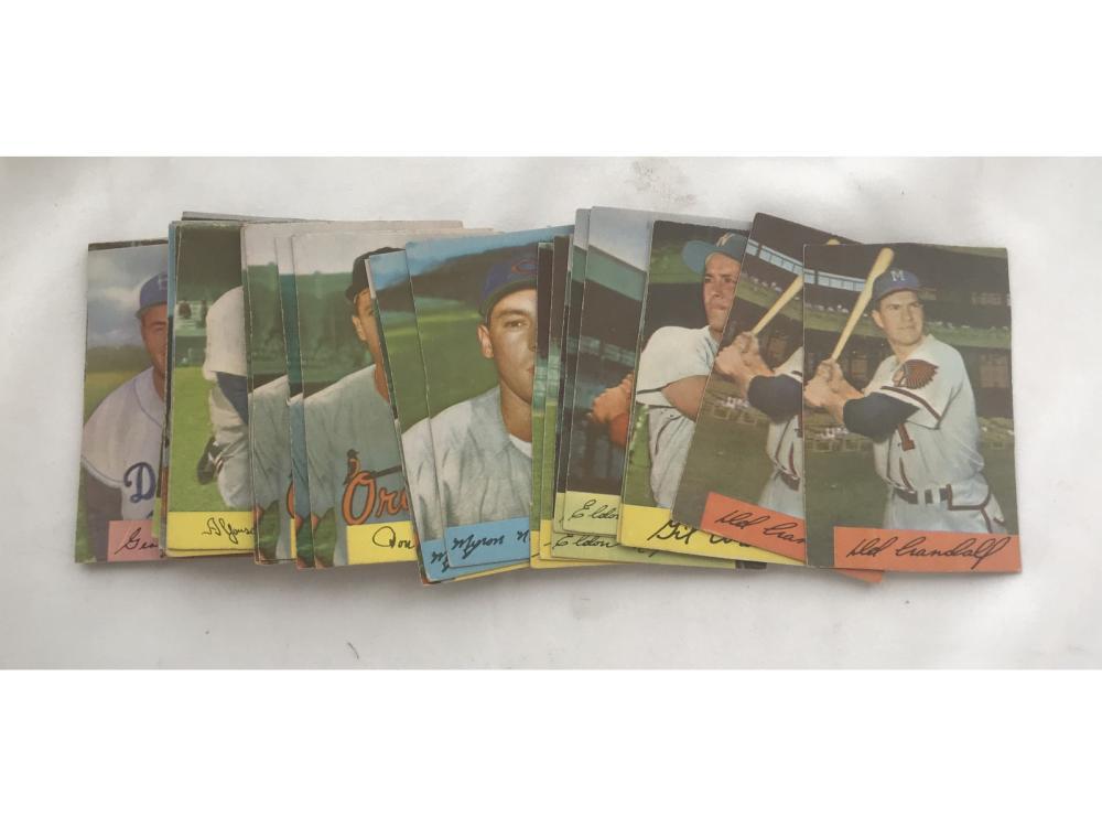 110 1954 Bowman Baseball Cards Trimmed