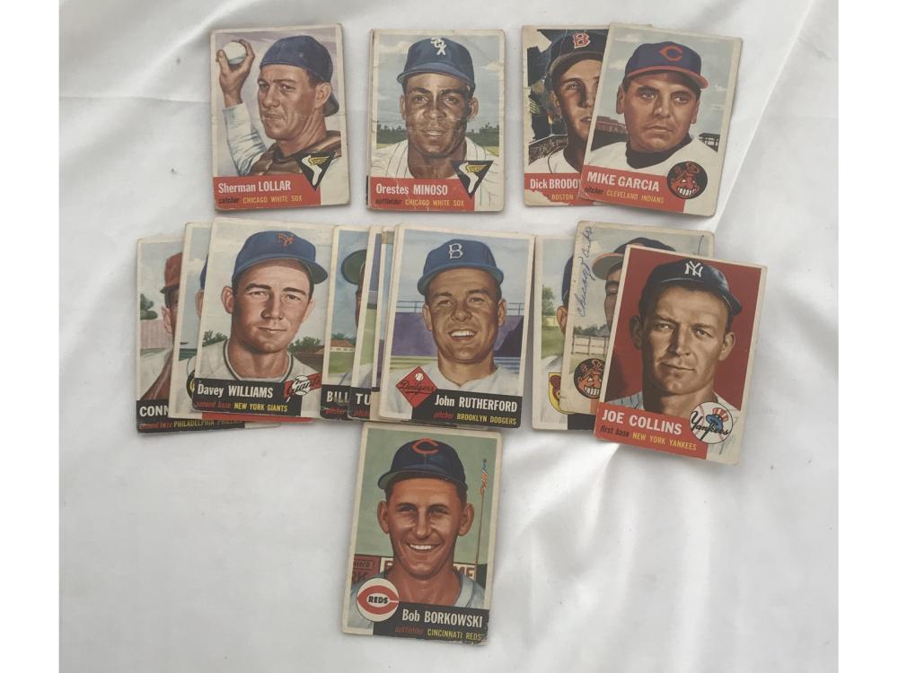 200 1952/53 Topps Baseball Cards Low Grade