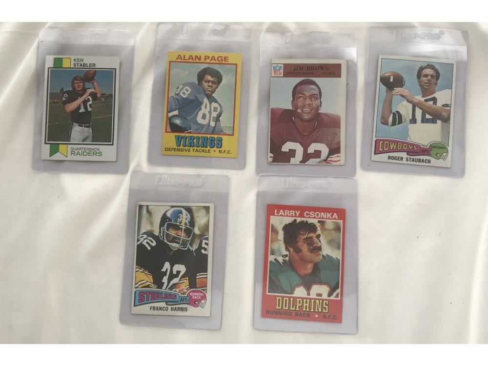 100 1970 Topps Football Card With Hof