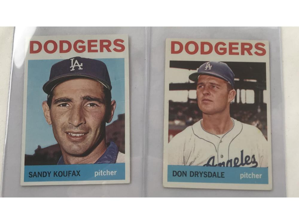 1964 Topps Sandy Koufax And Don Drysdale
