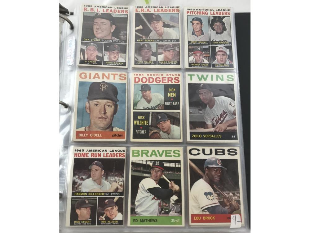 198 Different 1964 Topps Cards Hof/sp