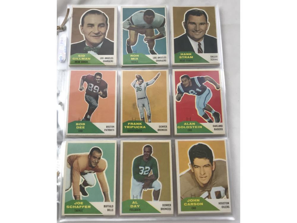 87 Crease Free 1960 Fleer Football Cards