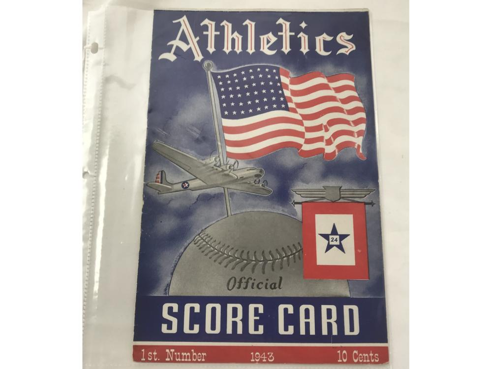 1943 A's Versus Yankees Program