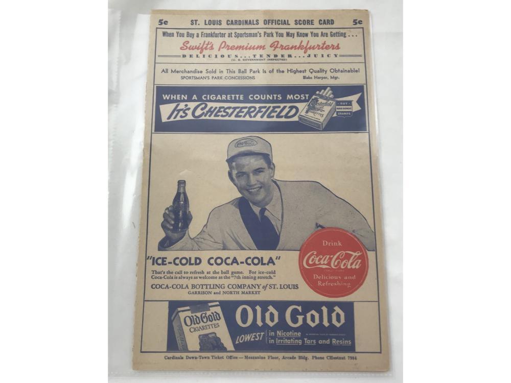 1943 St. Louis Versusphiladelphia Program