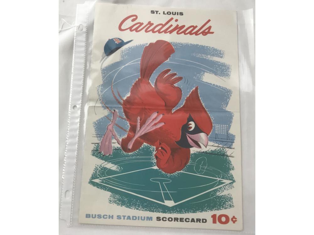 1958 St. Louis Vs. Reds Program Signed