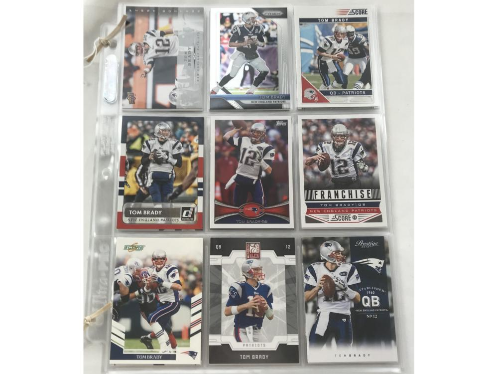 30 Different Tom Brady Cards With Inserts